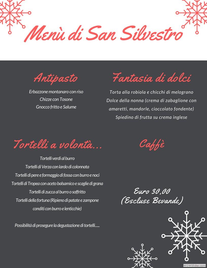 Menù San Silvestro